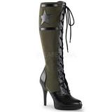 Verde 11,5 cm FUNTASMA ARENA-2022 Stivali donna con Lacci e tacco