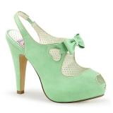 Verde 11,5 cm retro vintage BETTIE-03 Pinup scarpe décolleté con plateau nascosto