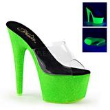 Verde 18 cm ADORE-701UVG neon plateau ciabatta donna con tacco