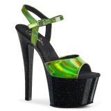 Verde 18 cm SKY-309HG Ologramma plateau sandali donna con tacco