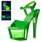 Verde 18 cm SKY-309UVT Neon Plateau Sandali Tacco Altissimo