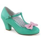 Verde 6,5 cm WIGGLE-50 Pinup scarpe décolleté con tacco spesso