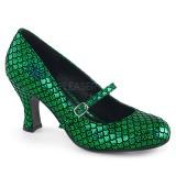 Verde 7,5 cm MERMAID-70 scarpe décolleté con tacchi bassi