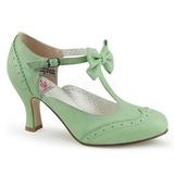 Verde 7,5 cm retro vintage FLAPPER-11 Pinup scarpe décolleté con tacchi bassi