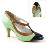 Verde 8 cm PEACH-03 Pinup scarpe décolleté con tacchi bassi
