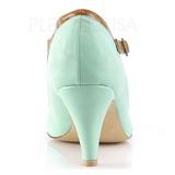 Verde 8 cm retro vintage PEACH-03 Pinup scarpe décolleté con tacchi bassi