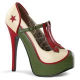 Verde Beige 14,5 cm TEEZE-43 Scarpe da donna con tacco altissime