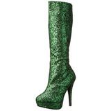 Verde Brillare 13 cm LOLITA-300G Plateau Stivali Donna