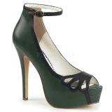 Verde Ecopelle 13,5 cm BELLA-31 scarpe décolleté spuntate tacco altissime