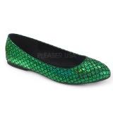 Verde MERMAID-21 ballerine scarpe basse donna