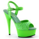 Verde Neon 15 cm Pleaser DELIGHT-609UVG Plateau Tacchi Alti a Spillo