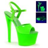 Verde Neon 18 cm Pleaser SKY-309UV Plateau Tacchi Alti a Spillo