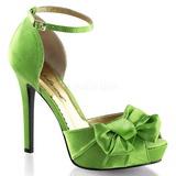 Verde Raso 12 cm LUMINA-36 Scarpe Décolleté da Sera