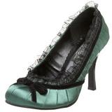 Verde Raso 9 cm DAINTY-420 Scarpe Décolleté Classico Donna