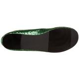 Verde STAR-16G scintillare scarpe ballerine donna basse