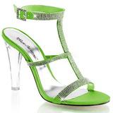 Verde Strass 11,5 cm CLEARLY-418 Sandali da Sera con Tacco Alto