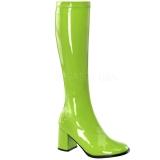 Verde Verniciato 8,5 cm Funtasma GOGO-300 Stivali Donna