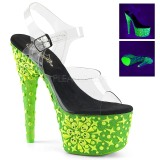 Verde neon 18 cm Pleaser ADORE-708NSK scarpe con tacchi da pole dance