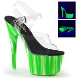 Verde neon 18 cm Pleaser ADORE-708UVP scarpe con tacchi da pole dance