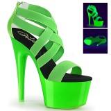 Verde neon 18 cm Pleaser ADORE-769UV scarpe con tacchi da pole dance