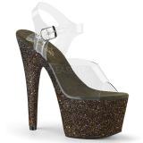 Verde scintillare 18 cm Pleaser ADORE-708HMG scarpe con tacchi da pole dance