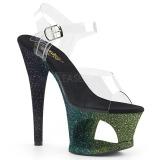 Verde scintillare 18 cm Pleaser MOON-708OMBRE scarpe con tacchi da pole dance