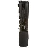 Vernice 14 cm SWING-220 stivali donna con fibbie e plateau alto