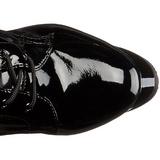 Vernice 18 cm ADORE-2023 stivali donna con lacci e plateau alto