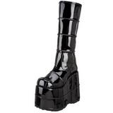 Vernice 18 cm STACK-301 Stivali Gotico da Uomo Plateau