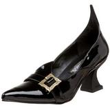 Vernice 6,5 cm SALEM-06 scarpe décolleté da strega tacco basso