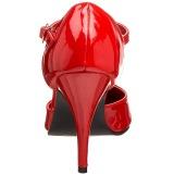 Verniciata 10 cm VANITY-415 scarpe décolleté cinturino a t rosse