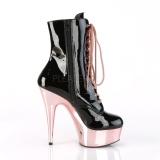 Verniciata 15,5 cm DELIGHT-1020 Stivaletti da donna plateau cromo rosa
