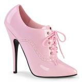 Verniciata 15 cm DOMINA-460 scarpe décolleté oxford stringate rosa