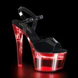 Verniciata 18 cm FLASHDANCE-709 plateau sandali donna da lampadina LED