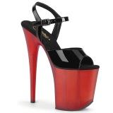 Verniciata 20 cm FLAMINGO-809T scarpe pleaser con plateau e tacco alto