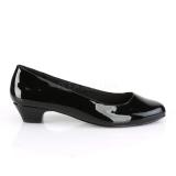 Verniciata 3 cm GWEN-01 scarpe décolleté da uomo nere