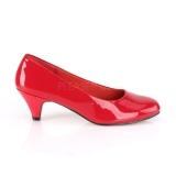 Verniciata 6 cm FEFE-01 scarpe décolleté da uomo rosse