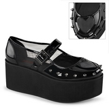 Verniciata 7 cm GRIP-01 scarpe lolita gotico calzature suola spessa