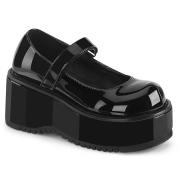 Verniciata 8,5 cm DEMONIA DOLLIE-01 scarpe décolleté mary jane neri