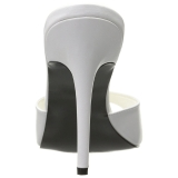 White 10 cm CLASSIQUE-01 womens mules shoes