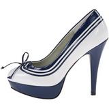 White Blue 13 cm LOLITA-13 High Heeled Evening Pumps Shoes