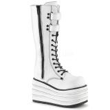 White Canvas 10 cm MORI-310 demonia boots platform