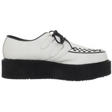 0e1e5df622 White Leather 5 cm CREEPER-402 Platform Mens Creepers Shoes