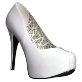 White Patent 14,5 cm Burlesque TEEZE-06W mens pumps for wide feets