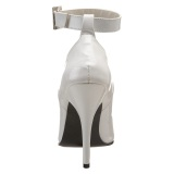 White Shiny 13 cm SEDUCE-431 Stiletto Pumps for Men