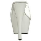 White Transparent 15,5 cm KISS-201 Platform High Mules