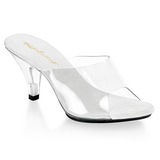 White Transparent 8 cm BELLE-301 High Women Mules Shoes for Men