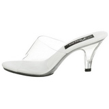 White Transparent 8 cm BELLE-301 Women Mules Shoes