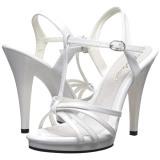 White Varnish 12 cm FLAIR-420 High Heels for Men
