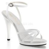 White Varnish 12 cm FLAIR-436 High Heels for Men